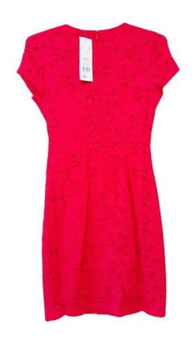 F&F Women's Red Leather-Look Insert Lace Shift Classy Sexy Fashion Dress New - 1000 Things Australia