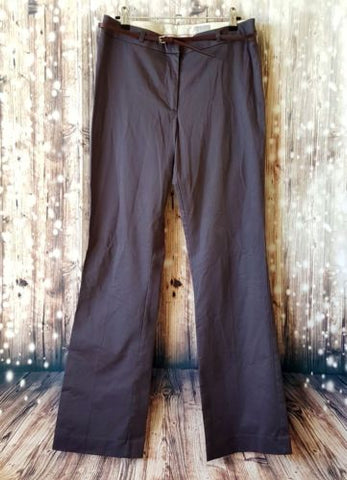 H&M Womens Dark Grey Cotton Pants Work Fashion Party Coctail Sexy Corporate Pant-Clothing, Shoes & Accessories Womens Clothing Pants-1000 Things Australia