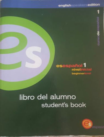 Es Espanol Libro Del Alumno by Espasa-Calpe SA Language Learning Student's Book-Books Textbooks, Education-1000 Things Australia