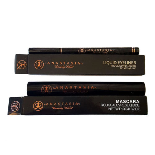 2pc Mixed Makeup Set:  ANASTASIA BEVERLY HILLS BLACK Liquid Eyeliner & Mascara - 1000 Things Australia