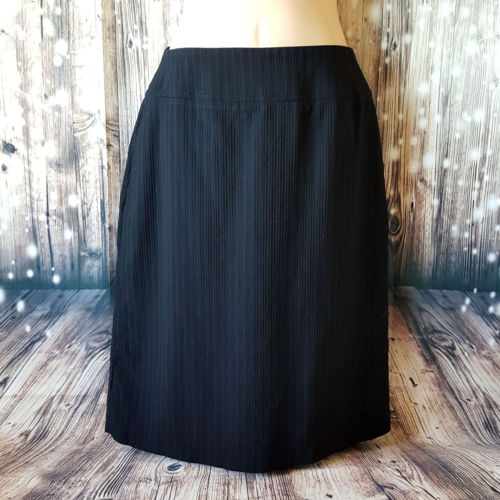 COUNTRY ROAD Black Corporate Pinstripe Women's Pencil Skirt - 1000 Things Australia