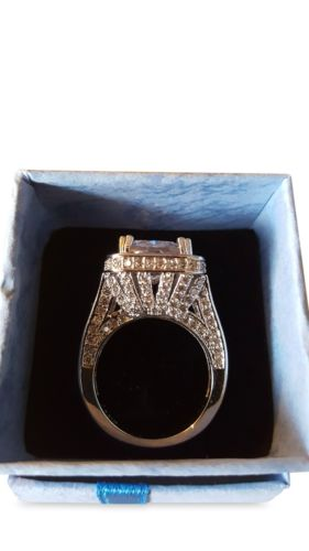 Emerald Cut White Gold Filled Ring - 1000 Things Australia