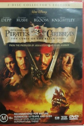 Pirates of The Caribbean The Curse Of The Black Pearl Johnny Depp 2 DVD Region 4-DVDs & Movies DVDs & Blu-ray Discs-1000 Things Australia