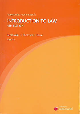 Introduction to Law by James Thomson Rick Sarre Michael Pembroke 2006 Paperback-Books Textbooks, Education-1000 Things Australia