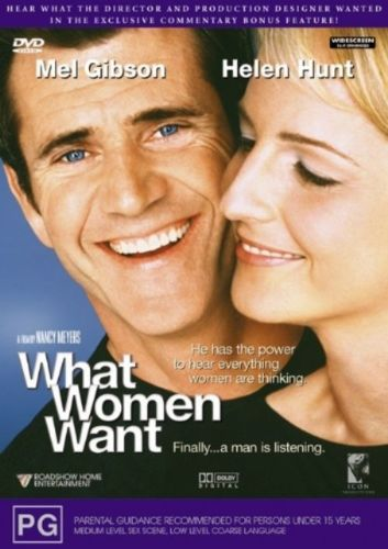 What Women Want By Nancy Meyers DVD 2001 Mel Gibson Helen Hunt Movie Region4 PAL-DVDs & Movies DVDs & Blu-ray Discs-1000 Things Australia