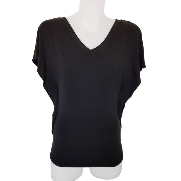 EZRA BASICS Black Batwing Blouse Top - 1000 Things Australia