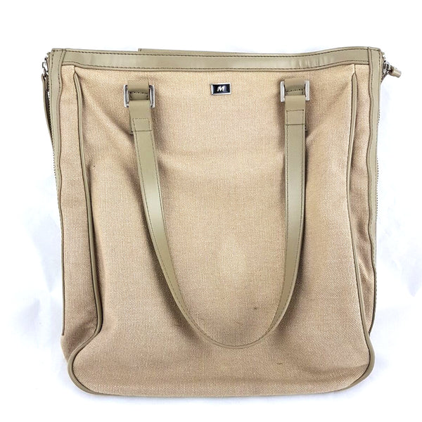 MORRISSEY Women's Beige Brown Canvas Shoulder Bag
