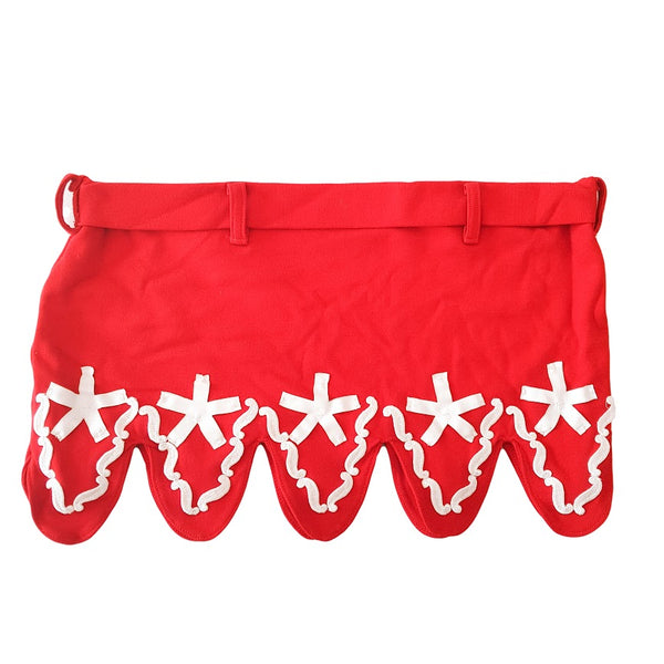 Red & White Cutout Mini Skirt - 1000 Things Australia