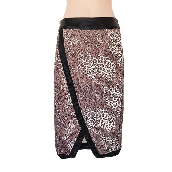 MIKA & GALA Brown & Black Leopard Print Pencil Skirt - 1000 Things Australia