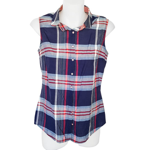LK & JNS DEW Multicoloured Plaid Collared Top - 1000 Things Australia