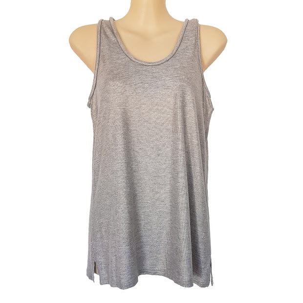 WITCHERY Metallic Gray Relaxed Fit Sleeveless Women's Tank Top - 1000 Things Australia