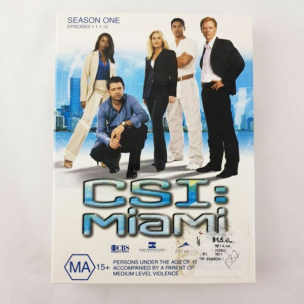 CSI: Miami Season 1 DVD 12 Episodes Region 4 PAL - 1000 Things Australia