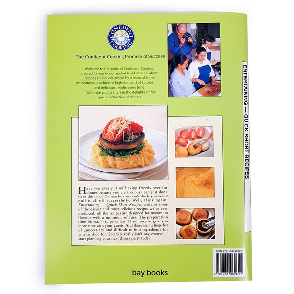 Entertaining Quick Short Recipes Cooking Book 2008 Australian
