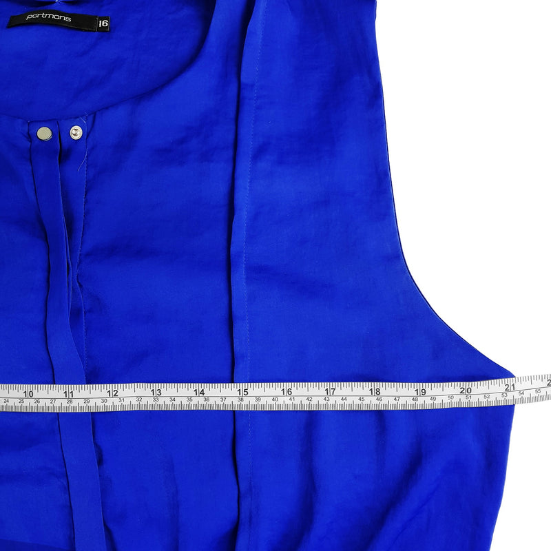 PORTMANS Royal Blue Sleeveless Women's Drawstring Sheath Dress Ladies Workwear