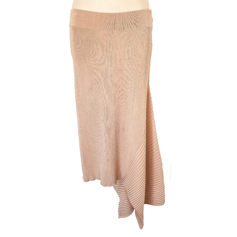 SEED HERITAGE Beige Nude Long Knit Women's Asymmetrical Skirt - 1000 Things Australia