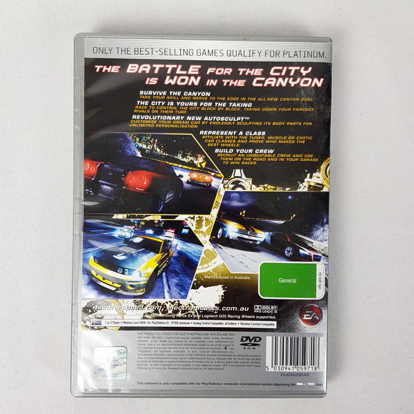 Sony PlayStation 2 Need For Speed Carbon Platinum DVD - 1000 Things Australia