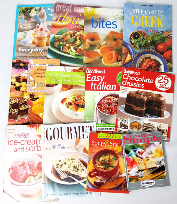 Lot of 12 Cooking & Baking Recipe Low-Fat Desserts Books - 1000 Things Australia