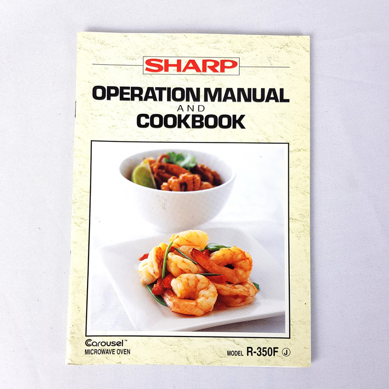 SHARP R-350F -Operation Manual and CookBook - 1000 Things Australia