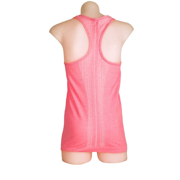 LORNA JANE Pink Seamless Racerback Women's Activewear Tank Top - 1000 Things Australia