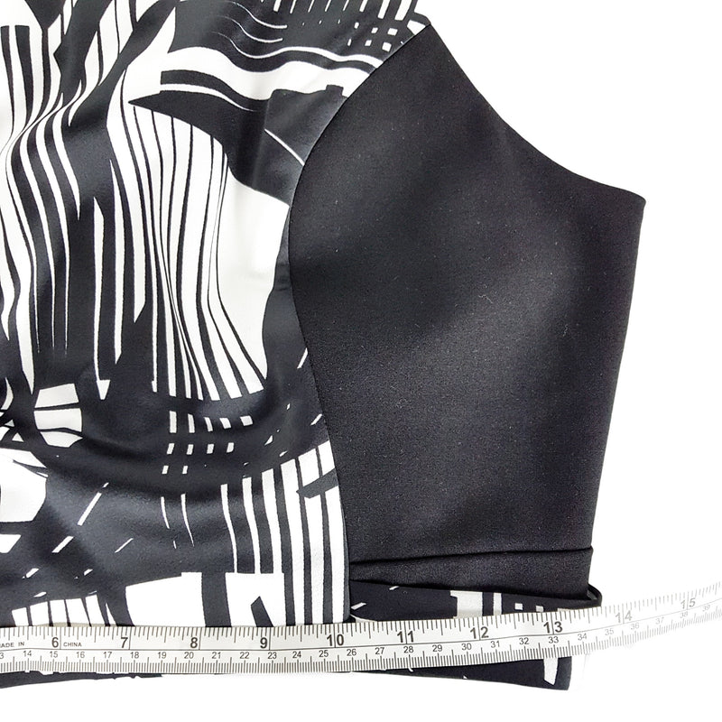WITCHERY Black & White Abstract Crop Top - 1000 Things Australia