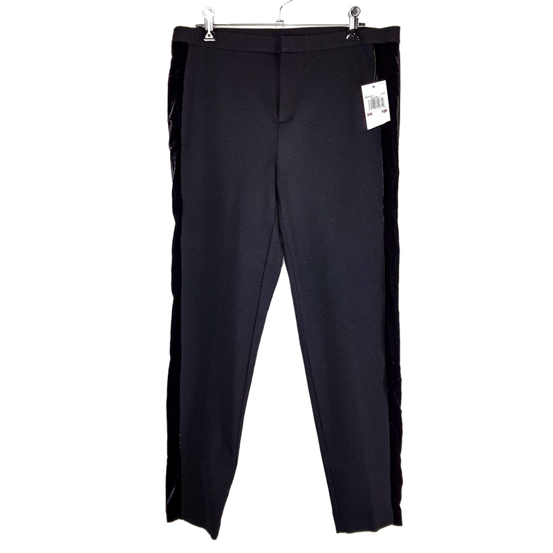 MICHAEL KORS Black Velvet Straight Business Work Pants - 1000 Things Australia