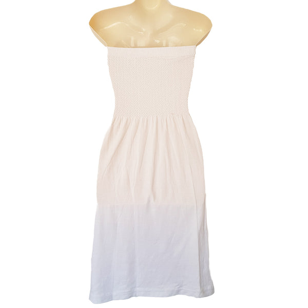 Summer White Strapless Dress - 1000 Things Australia