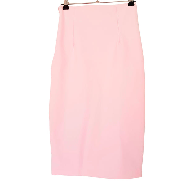 KOOKAI Light Pink High Waist Women's Pencil Straight Midi Skirt Zip Fly Size 36