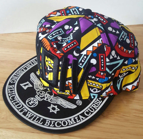 90s Funky Retro Snapback Adjustable Hat Baseball Cap Men's Women's Bboy Hip Hop-Hats-1000 Things Australia
