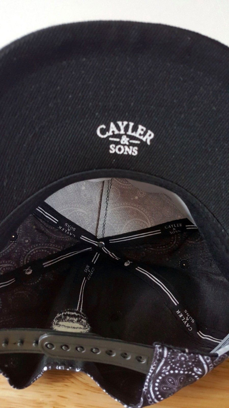 CAYLER & SONS Navy Blue Black  Paisley Snapback Adjustable Hat - 1000 Things Australia