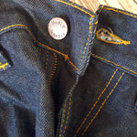 Sz W32 L32 NUDIE JEANS Tape Ted Men's Cotton Denim Blue Dark Pants Made in Italy-Jeans-1000 Things Australia