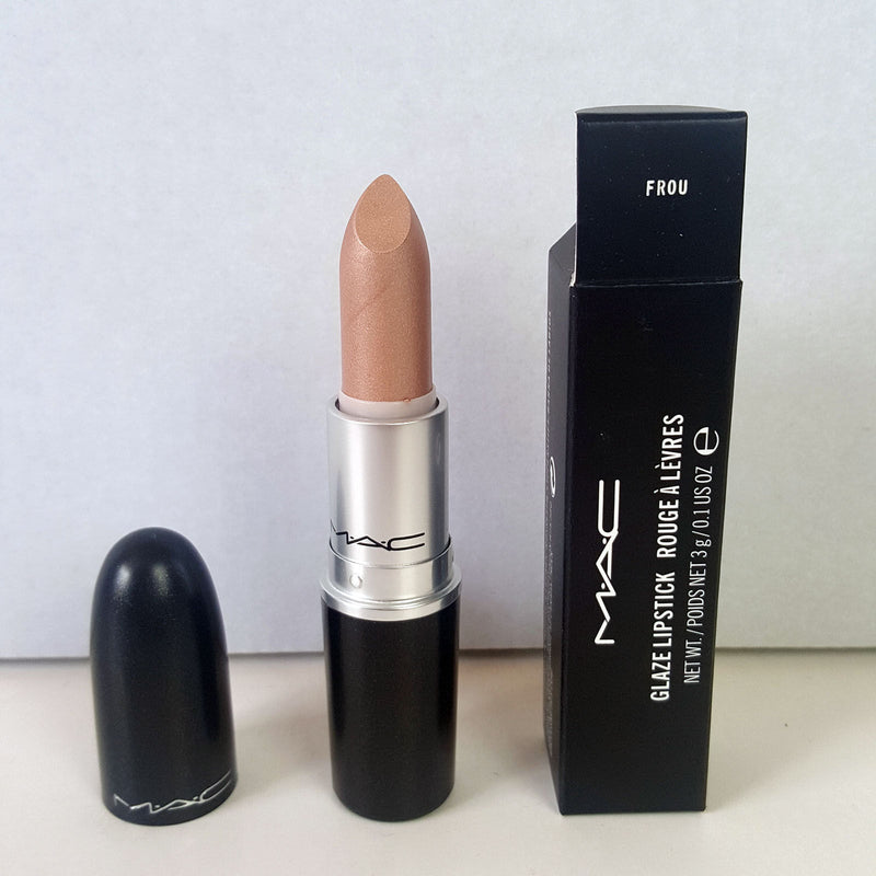 M.A.C FROU Glaze Rouge Shimmery Glitter Beige Nude Lipstick Full Size RARE NEW - 1000 Things Australia