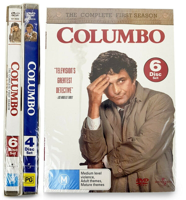Columbo Season 1 (6-Disc Set) & Season 2 (4-Disc Set) DVD