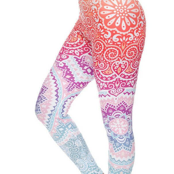Mandala Multi-Coloured Pastel Leggings - 1000 Things Australia