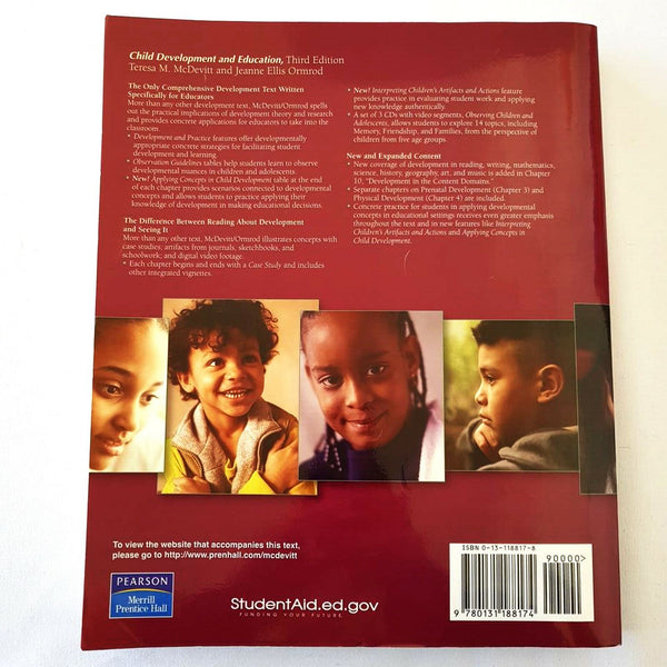 Child Development and Education Book By Tersa M. McDevitt & Jeanne Ellis Ormrod - 1000 Things Australia