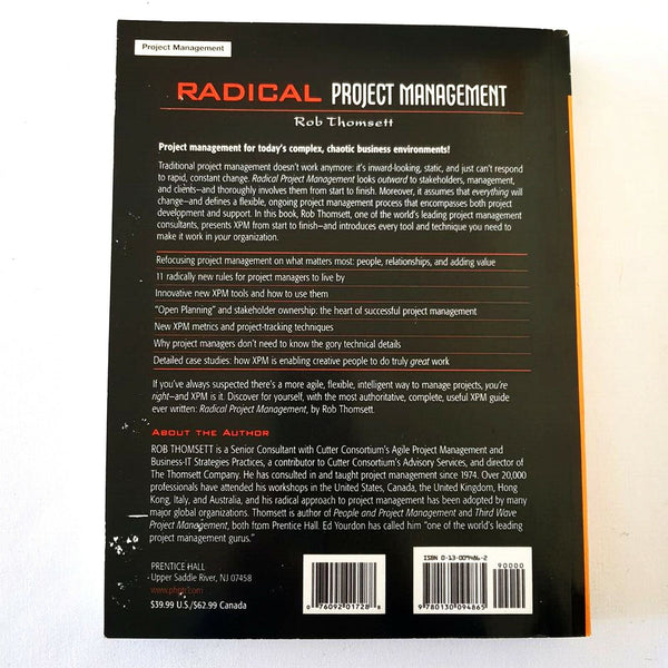 Radical Project Management By Rob Thomsett - 1000 Things Australia