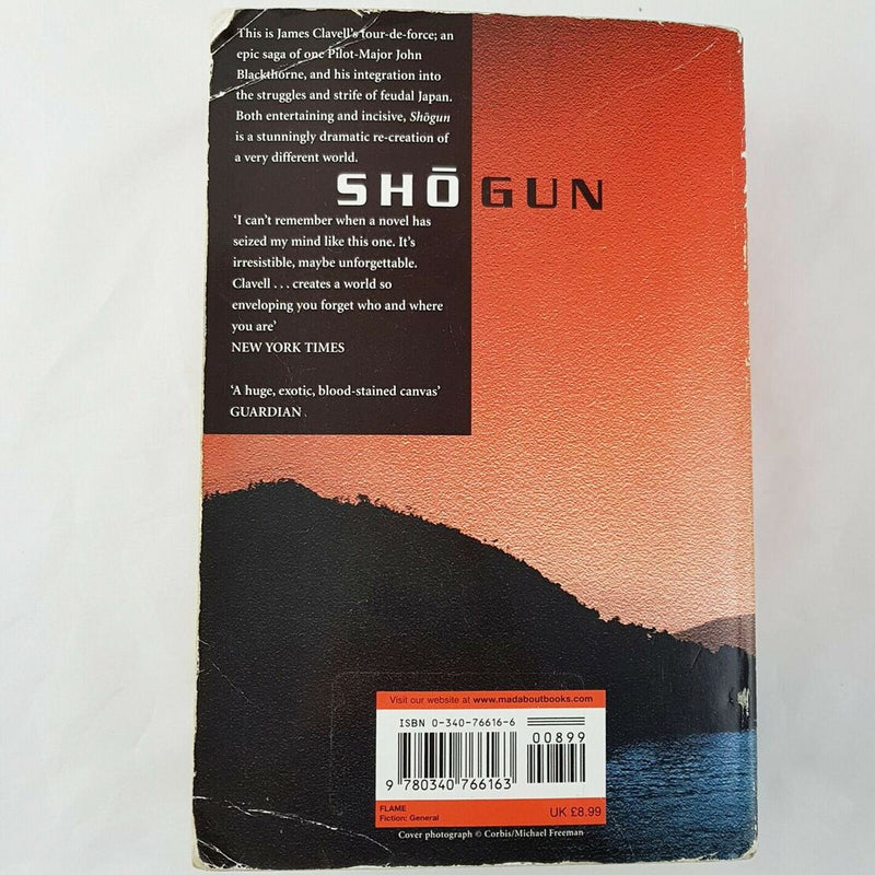 Shogun: The First Novel of the Asian saga by James Clavell (Paperback, 1999) Book - 1000 Things Australia