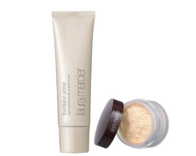 Laura Mercier Translucent Loose Setting Powder & Foundation Primer Bundle