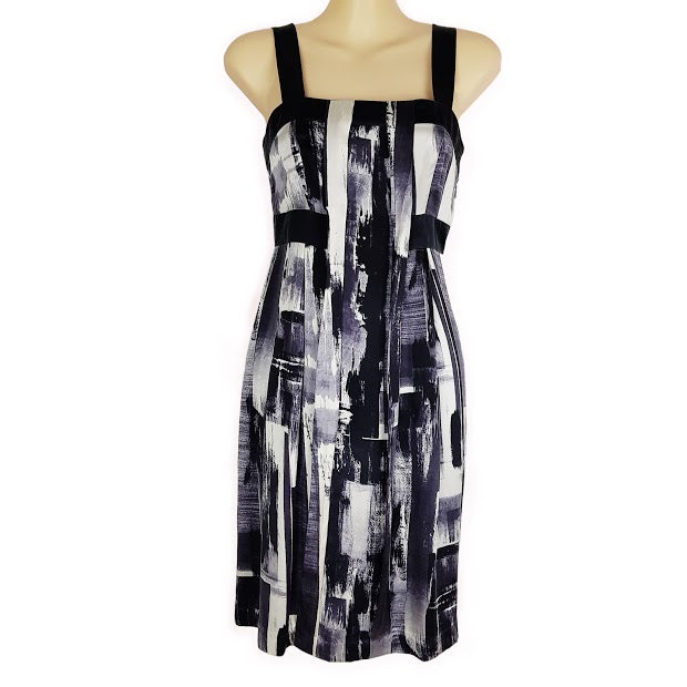 SABA Gray Black Sleeveless Abstract Pattern Sexy Casual Formal Dress Ladies Wear - 1000 Things Australia