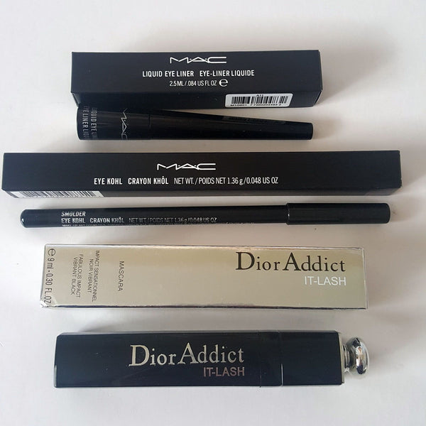 3pc Mixed Makeup Set: Black Eye Kohl Pencil Eyeliner Liquid Eyeliner Mascara - 1000 Things Australia