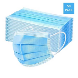 Chiq Boutique - 3 Ply Protective Face Masks (50 Pack) |  1000-things-australia.