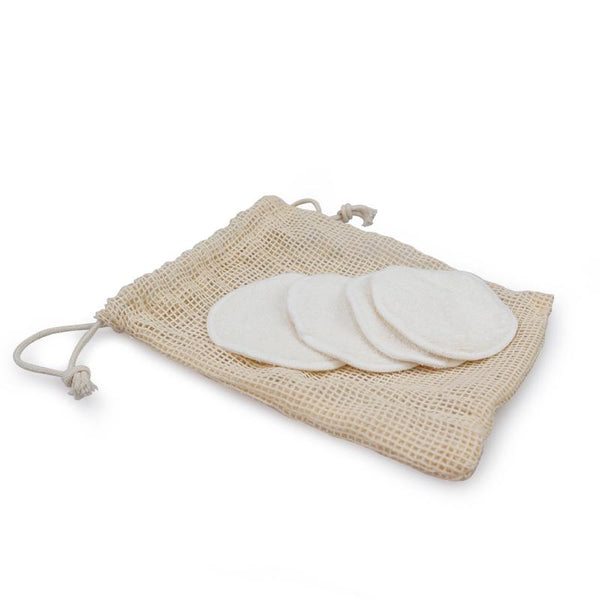 Inspired Beauty - Bamboo Fiber 12pcs Makeup Pads with Pouch |  1000-things-australia.