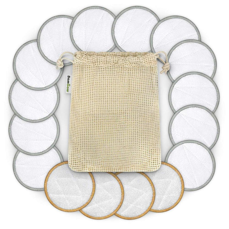 Inspired Beauty - Bamboo Fiber 16pcs Makeup Remover Pads with Pouch |  1000-things-australia.