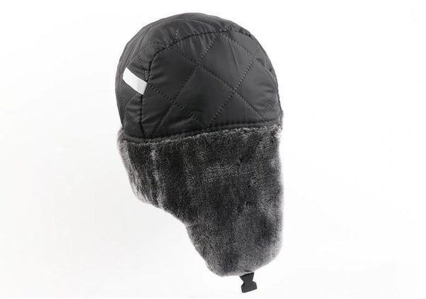 Black Bomber Hat Men Women Waterproof Windproof Thermal Trapper Pilot Winter Cap - 1000 Things Australia