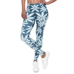 Blue Leaf Fitness Leggings - 1000 Things Australia