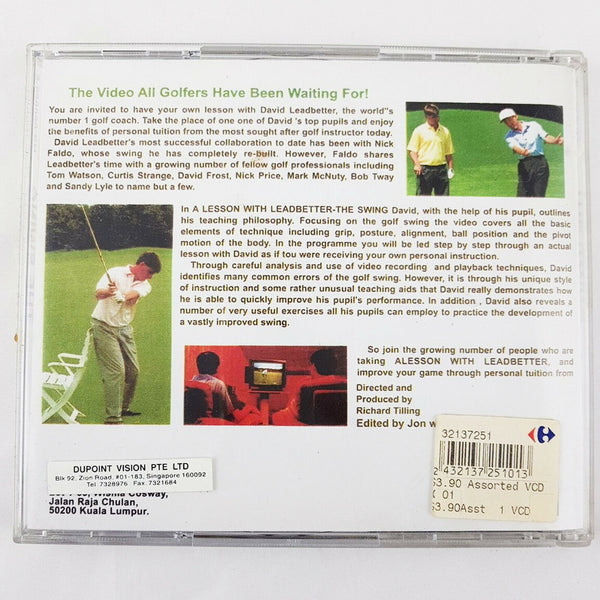 GOLF A Lesson With David Leadbetter The Swing VCD Instructional Video CD 90min - 1000 Things Australia
