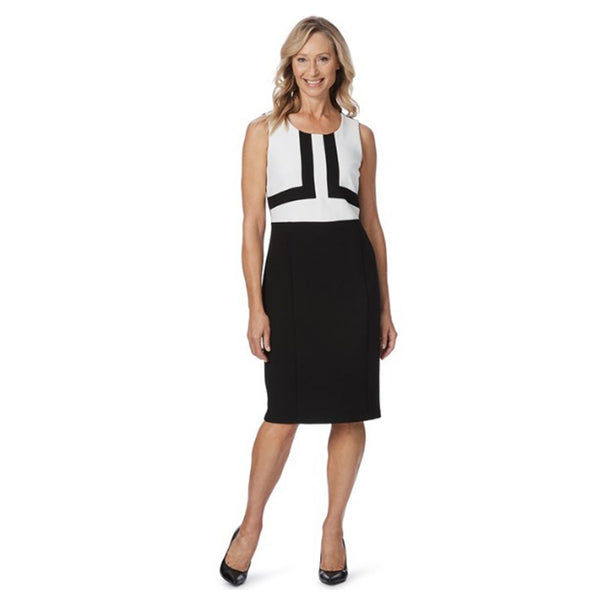 LIZ JORDAN Layla Black & White Pencil Dress - 1000 Things Australia