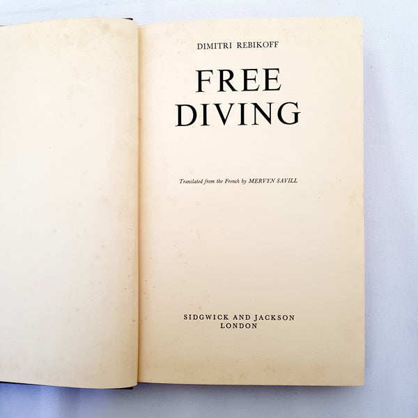 Free Diving Book By Dimitri Rebikoff Hardcover - 1000 Things Australia