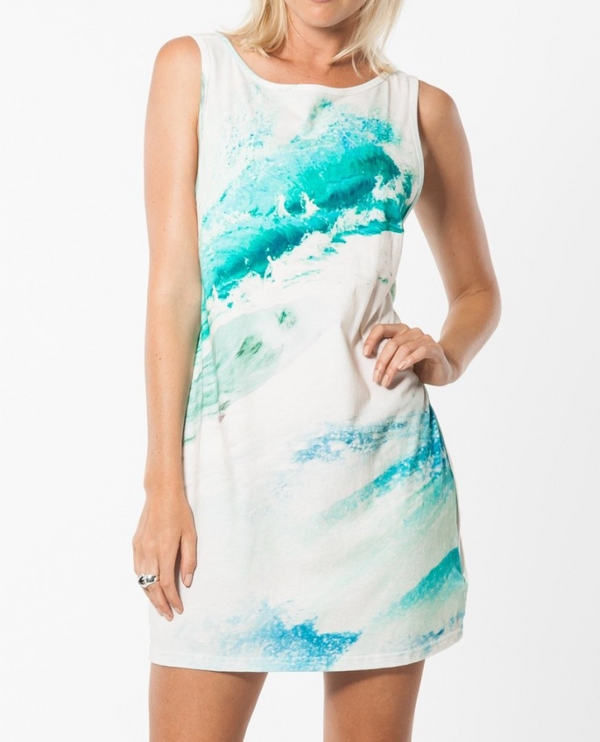 KSUBI Summer Ocean Low Back Singlet Dress