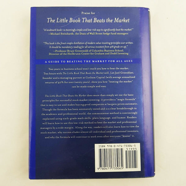 Joel Greenblatt The Little Book That Beats the Market - 1000 Things Australia
