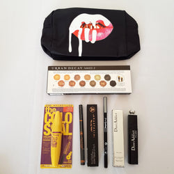 Mixed Makeup Set 14: Eyeshadow Palette Mascara Liquid Eyeliner Cosmetics Bag - 1000 Things Australia